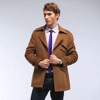 2014春季新款男装羊绒大衣韩版中长款欧美羊毛呢外套