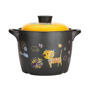 美厨萌小七系列陶瓷煲养生煲砂锅炖锅汤锅4LMCT378
