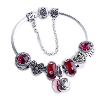 PANDORA潘多拉手链女士925银手镯串珠成品套装套组40