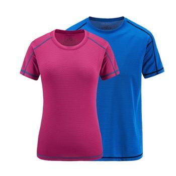 【御旗】速干衣男短袖圆领跑步健身女大码夏季快干衣户外休闲运动情侣t恤