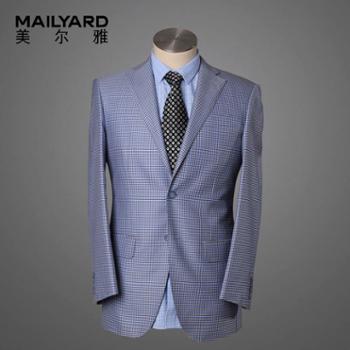 美尔雅西服单西装男羊毛桑蚕丝男士商务休闲西服单件上衣W02