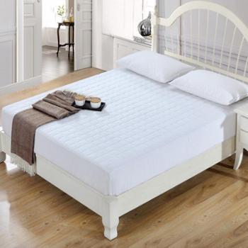 Puraspace夹棉床笠单件全棉席梦思床垫套保护套纯棉防滑床罩夏季薄1.8