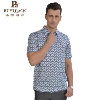 法国拜邦 男装T恤棉质印花短袖男士T恤TB7W-035 52