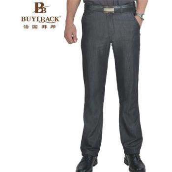 法国拜邦 男装时尚休闲棉质无褶牛仔裤FG6ZB-024