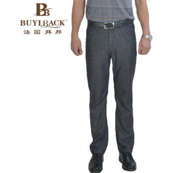 法国拜邦 男装时尚休闲棉质无褶薄款牛仔裤FG1B-321 29