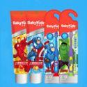 【儿童牙刷牙膏】舒客无氟可吞咽儿童成长牙膏牙刷 水果味去渍软毛小刷头