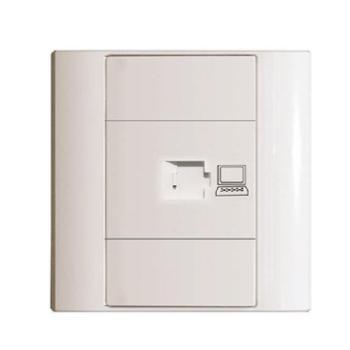 飞利浦开关插座面板 Q4系列 单电脑插座 Q4-801PC