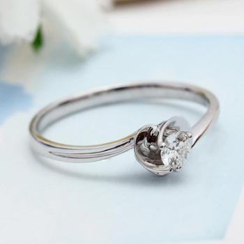 铂金PT950钻石戒指爱心桃克拉求婚钻戒老婆女友结婚送礼配送证书打折