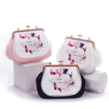 爱丽丝梦游仙境包包 个性订制纯手工糖果色包包可爱气质蕾丝包包