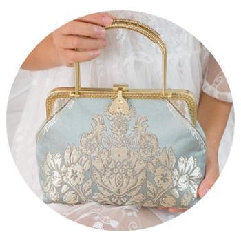 气质丝绸包包绸缎手提包精品复古民族风淑女旗袍手拿包斜挎包