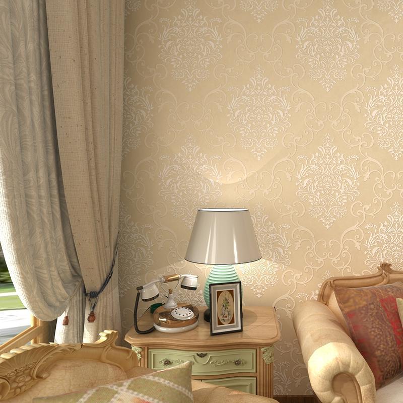 雅美式复古墙纸 欧式卧室客厅电视背景墙