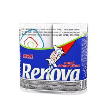 葡萄牙原装进口Renova厨房清洁专业用纸(强吸水)2卷装40节