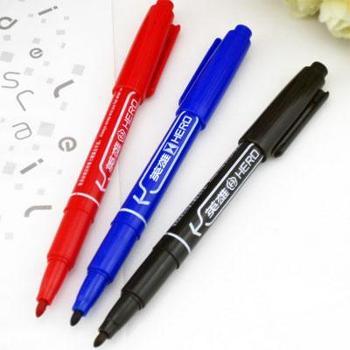 英雄记号笔红、黑、蓝色记号笔88310支/盒1盒装双头勾线笔签字笔油漆笔马克笔