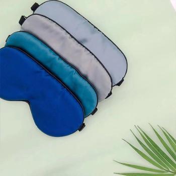 太湖雪真丝眼罩双面桑蚕丝10.5*22CM1只装颜色随机