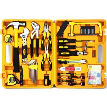 deli得力工具套装五金工具箱3703