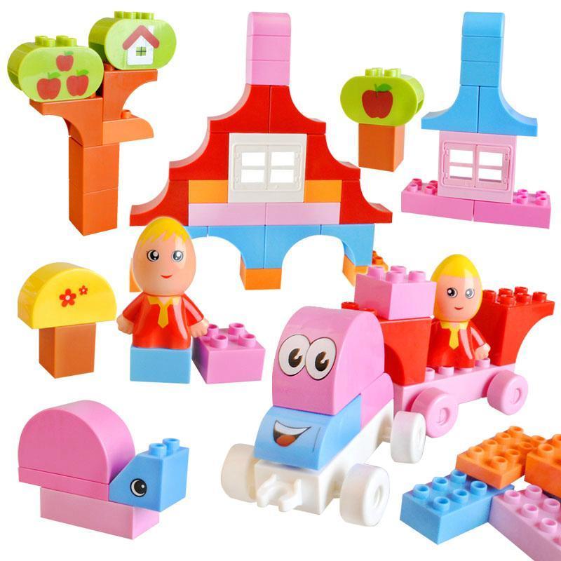 沛利女孩积木梦幼家园 创意拼砌积木塑料拼插女宝宝益智玩具2-7岁