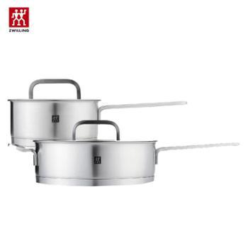 双立人(zwilling)套装锅具(煎炒锅24cm+单柄炖锅16cm)
