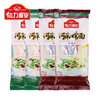 仙力面业河南烩面牛羊味老汤特产袋装方便速食215g*4袋含调料