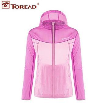 Toread探路者防水皮肤常规风衣女新款运动户外风衣TAEF82700(新)