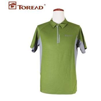 Toread探路者短袖透气翻领男士夏季特价速干T恤TAJB81253