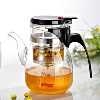 邦田 泡茶杯 茶道杯 过滤 玻璃 茶水分离 飘逸茶壶带嘴 681A-700ML
