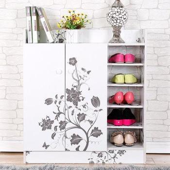 亿家达 简易玄关鞋柜 家用欧式收纳鞋柜鞋橱 创意鞋柜门厅柜