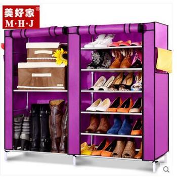 美好家 简易鞋柜 无纺布鞋柜加固 防尘鞋柜 组装收纳布艺靴柜