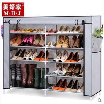 简易鞋柜 折叠加固鞋柜 组合 组装 收纳 布艺 高 靴鞋柜 特价包邮