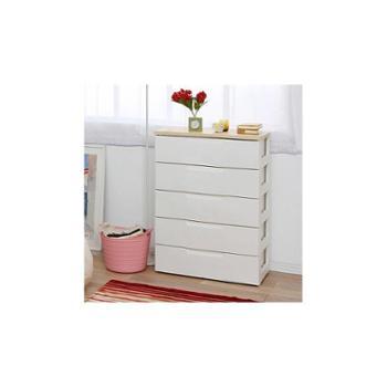 爱丽思 高级环保 大容量加宽五层抽屉衣物柜整理柜收纳柜HG-725