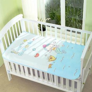 乐儿舒婴儿隔尿垫超大防水可洗棉透气月经垫3D印花新生儿宝宝尿垫四季(单件装)