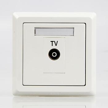 ABB徳逸系列插座一位电视插座白色AE301