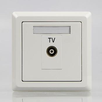 ABB徳逸系列插座一位带一分支电视插座AE304