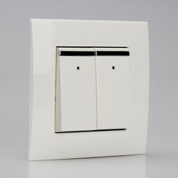 ABB二位双控带装饰线带灯开关10AXEWA由艺Uni-art系列