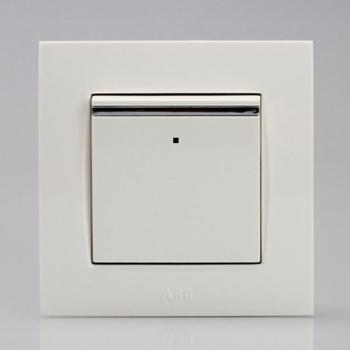 ABB 一位双控带装饰线带灯开关 10AX EWA由艺Uni-art系列