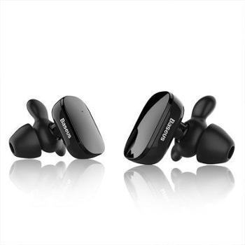 倍思EncokW02真无线蓝牙耳机(带硅胶收纳包+牛角耳帽)防水耳机