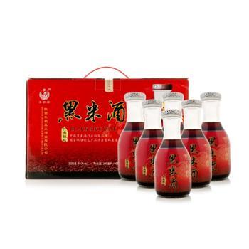 【朱鹮酒业】陕西特产黑米酒9度半甜型快乐装整箱300mlx6瓶黑米酿造送礼酒