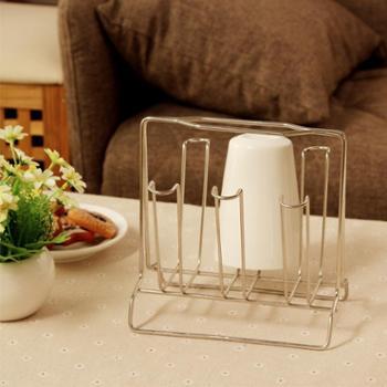 欧润哲不锈钢杯架水杯挂架创意杯架子置物架沥水杯架