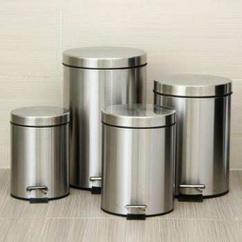 欧润哲 静音缓降款不锈钢砂光脚踏垃圾桶系列 家居时尚清洁收纳桶套装