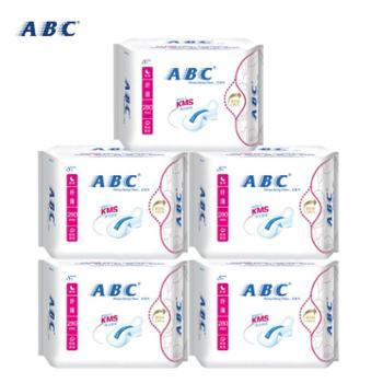 【包邮】ABC卫生巾 棉柔纤薄 蓝芯夜用型卫生巾8片*5包