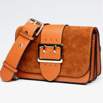 包包女2017新款潮流真皮手提包时尚休闲单肩斜跨包品牌牛皮女士包L6132