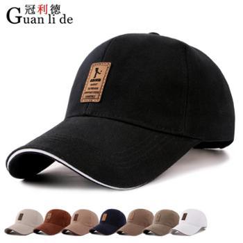 春季帽子新款男士韩版棒球帽时尚棉质鸭舌帽户外防晒遮阳帽