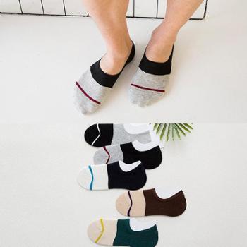 袜子 男士春夏季纯色五双装 组合装