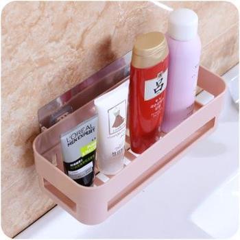 (生活用品)置物架胶贴卫生间厨房浴室置物架沥水储物收纳架三角架单件