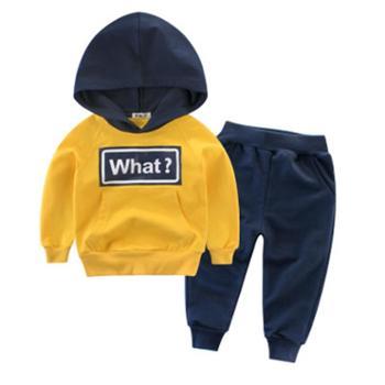 27KIDS儿童套装男童服装两件套宝宝卫衣儿童套装运动裤纯棉拼色中大童两件套男童外套