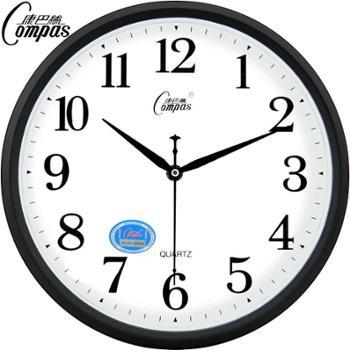 爆款!康巴丝12英寸时尚挂钟卧室客厅办公静音时钟挂表简约创意石英钟表
