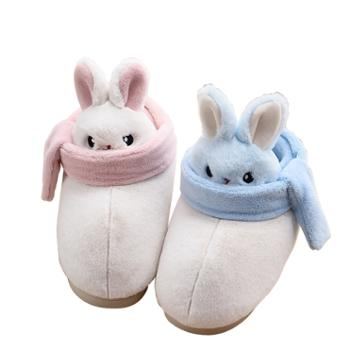 AISFN 卡通兔 包跟棉拖鞋 家居鞋