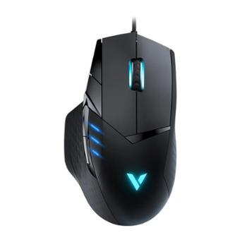 雷柏VT300电竞游戏鼠标台式电脑吃鸡自定义宏编程RGB发光有线鼠标
