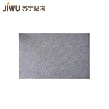 【苏宁极物】仿麻玄关垫 灰色 50*80cm