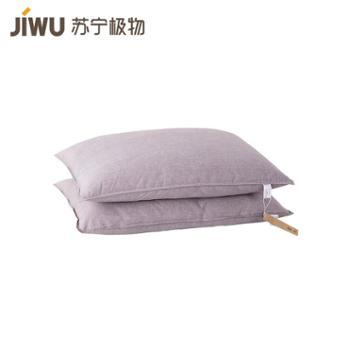 【苏宁极物】抗菌可水洗舒棉枕 单只装 灰色