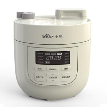 小熊(Bear)电压力锅开盖收汁迷你智能预约2L高压锅多功能YLB-A20K1白色